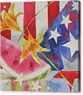 Fourth Of July Acrylic Print by Amy Householder