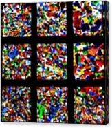 Fractured Squares Acrylic Print by Meandering Photography