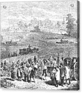 France: Wine Harvest, 1871 Acrylic Print by Granger