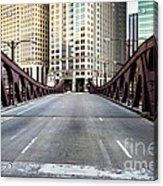 Franklin Orleans Street Bridge Chicago Loop Acrylic Print by Paul Velgos