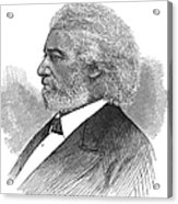 Frederick Douglass (c1817-1895). American Abolitionist. Wood Engraving, American, 1877 Acrylic Print by Granger