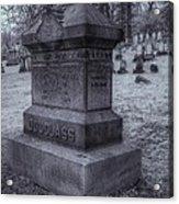 Frederick Douglass Grave One Acrylic Print by Joshua House