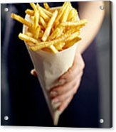 French Fries Acrylic Print by David Munns