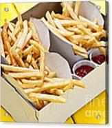 French Fries In Box Acrylic Print by Elena Elisseeva