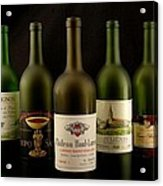 French Wine Labels Acrylic Print by David Campione