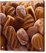 Fresh Bread Loaves Acrylic Print by Terry Mccormick