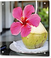 Fresh Coconut Milk Cocktail Acrylic Print by Kantilal Patel