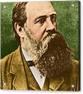 Friedrich Engels, Father Of Communism Acrylic Print by Photo Researchers