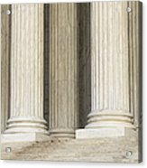 Front Steps And Columns Of The Supreme Court Acrylic Print by Roberto Westbrook