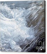 Froth Acrylic Print by Sharon Talson
