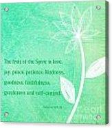 Fruit Of The Spirit Acrylic Print by Linda Woods