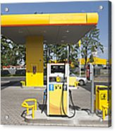 Fuel Pump At A Gas Station Acrylic Print by Jaak Nilson