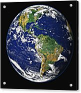Full Earth Showing The Western Acrylic Print by Stocktrek Images