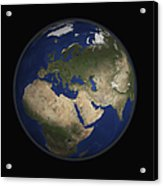Full Earth View Showing Africa, Europe Acrylic Print by Stocktrek Images