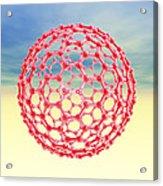 Fullerene Molecule, Computer Artwork Acrylic Print by Laguna Design