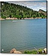 Fun At The Lake Acrylic Print by Aaron Burrows