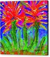 Funky Flower Towers Acrylic Print by Angela L Walker