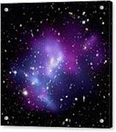 Galaxy Cluster Macs J0717 Acrylic Print by Nasacxcstscima Et Al