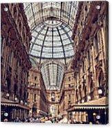 Galleria Vittorio Emanuele Acrylic Print by Benjamin Matthijs