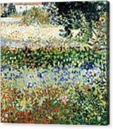 Garden In Bloom Acrylic Print by Vincent Van Gogh