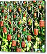 Garden Noah Bells Acrylic Print by Cheryl Young