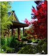 Garden Retreat Acrylic Print by Lynn Bauer