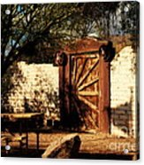 Gate To Cowboy Heaven In Old Tuscon Az Acrylic Print by Susanne Van Hulst