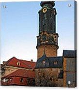 Gatehouse Weimar City Palace Acrylic Print by Christine Till