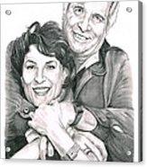 Gene And Majel Roddenberry Acrylic Print by Murphy Elliott