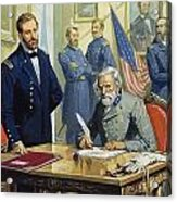 General Ulysses Grant Accepting The Surrender Of General Lee At Appomattox  Acrylic Print by Severino Baraldi