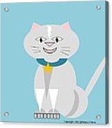 Geo Smiley Cat Acrylic Print by Maria Urso