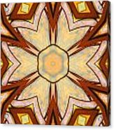 Geometric Stained Glass Abstract Acrylic Print by Linda Phelps