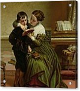 George Herbert And His Mother Acrylic Print by Charles West Cope