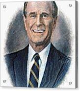 George H.w. Bush (1924-    ) Acrylic Print by Granger