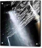 Geysers Of Enceladus Showing Acrylic Print by Brian Christensen