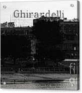 Ghirardelli Square In Black And White Acrylic Print by Linda Woods