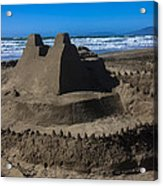 Giant Sand Castle Acrylic Print by Garry Gay