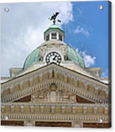 Giles County Courthouse Details Acrylic Print by Kristin Elmquist