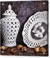 Ginger Jar And Compote Still Life Acrylic Print by Tom Mc Nemar