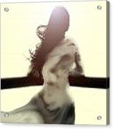 Girl In White Dress Acrylic Print by Joana Kruse