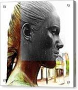 Girl Statue Acrylic Print by Stefan Kuhn