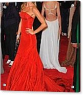 Gisele Bundchen Wearing An Alexander Acrylic Print by Everett