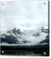 Glacier Mountain Acrylic Print by Mindy Newman
