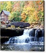 Glade Creek Grist Mill Acrylic Print by Laurinda Bowling