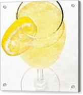 Glass Of Lemonade Acrylic Print by Andee Design