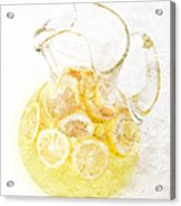 Glass Pitcher Of Lemonade Acrylic Print by Andee Design