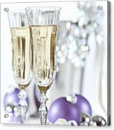 Glasses Of Champagne Acrylic Print by Amanda And Christopher Elwell