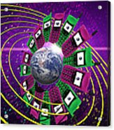 Global Communication Acrylic Print by Victor Habbick Visions