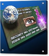 Global Id Card Acrylic Print by Victor Habbick Visions