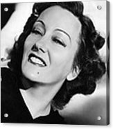 Gloria Swanson, Ca. Early 1940s Acrylic Print by Everett